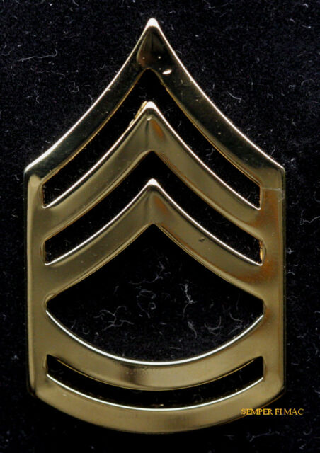 1st Class SFC OD Green Subdued Slip On Cloth Rank Insignia U.S Army Sgt