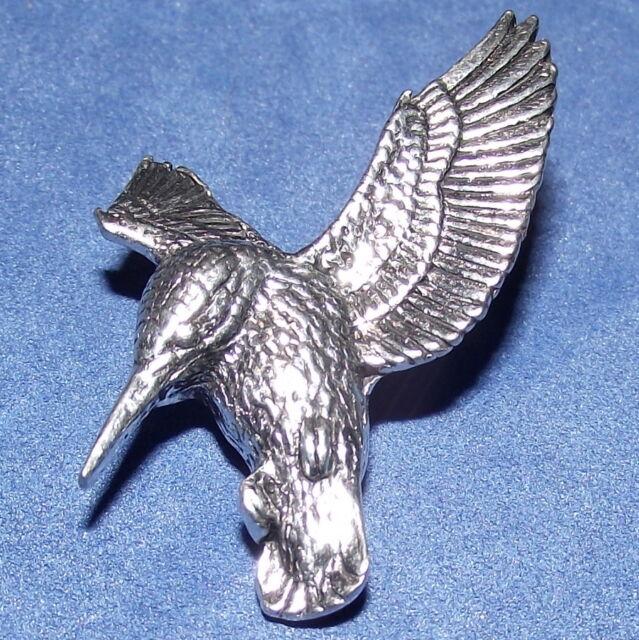 Superb Pewter Soaring Eagle Brooch Pin Craftsman Signed