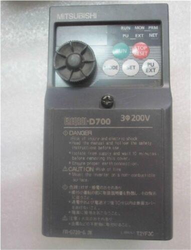 Mitsubishi 200W VFD Inverter Driver 3ph 240V 1.4A 400Hz Controller FR-D720-0.2K
