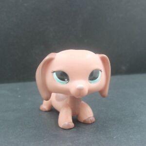 Littlest Pet Shop 2046 Dachshund Dog Gift Puppy Brown Peach Blue Eyes Lps Toys Ebay
