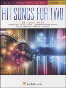 Chansons à Succès Pour Deux Trombones Facile Instrumentale Duos Trombone Partitions Livre-afficher Le Titre D'origine