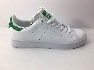 Adidas-Stan-Smith-VULC-Men-White-Green-Skateboarding-Shoes-US-Size-6