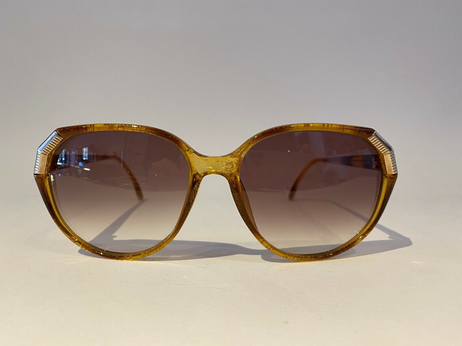 NOS Vintage Christian Dior #2495-11 Women's Sunglasses with gold sparkles
