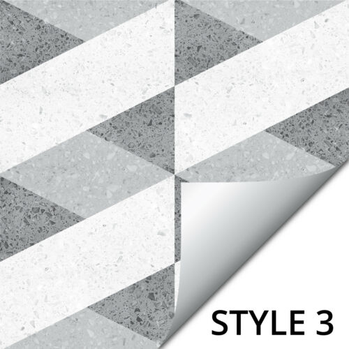Mosaic Tile Stickers Transfers Kitchen Black Grey Marble Wood Slate Effect MS3