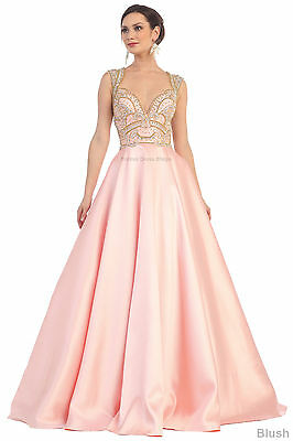 PROM QUEEN FORMAL DANCE DRESS PAGEANT CUT OUT SIDES GOWN MILITARY BALL SWEET 16