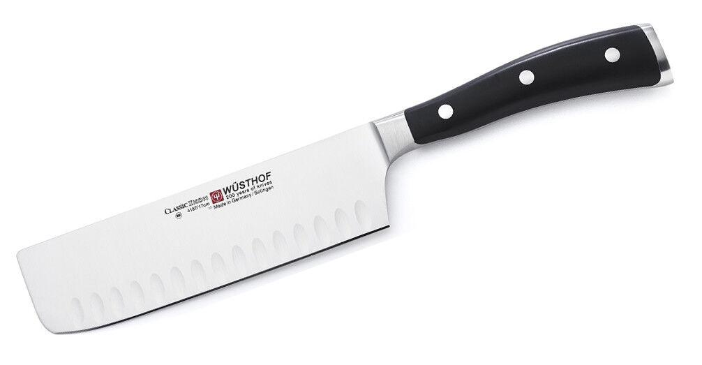 Wusthof Classic Ikon 7  Nakiri Hollow Hollow Hollow Edge Knife 4187-7 17 cm NEW Auth Dealer 879e46