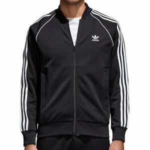 Adidas Originals Felpa da uomo con trifoglio Nero M