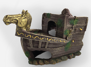 AQUARIUM SUNKEN GALLEON SHIPWREAK ORNAMENT DECORATION WREAK 34cm