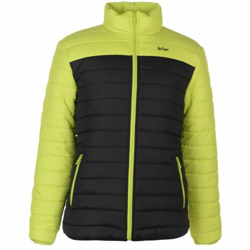 Lee Cooper Cut and Sew Jacket Mens Gents Puffer Coat Top Full Length Sleeve Zip