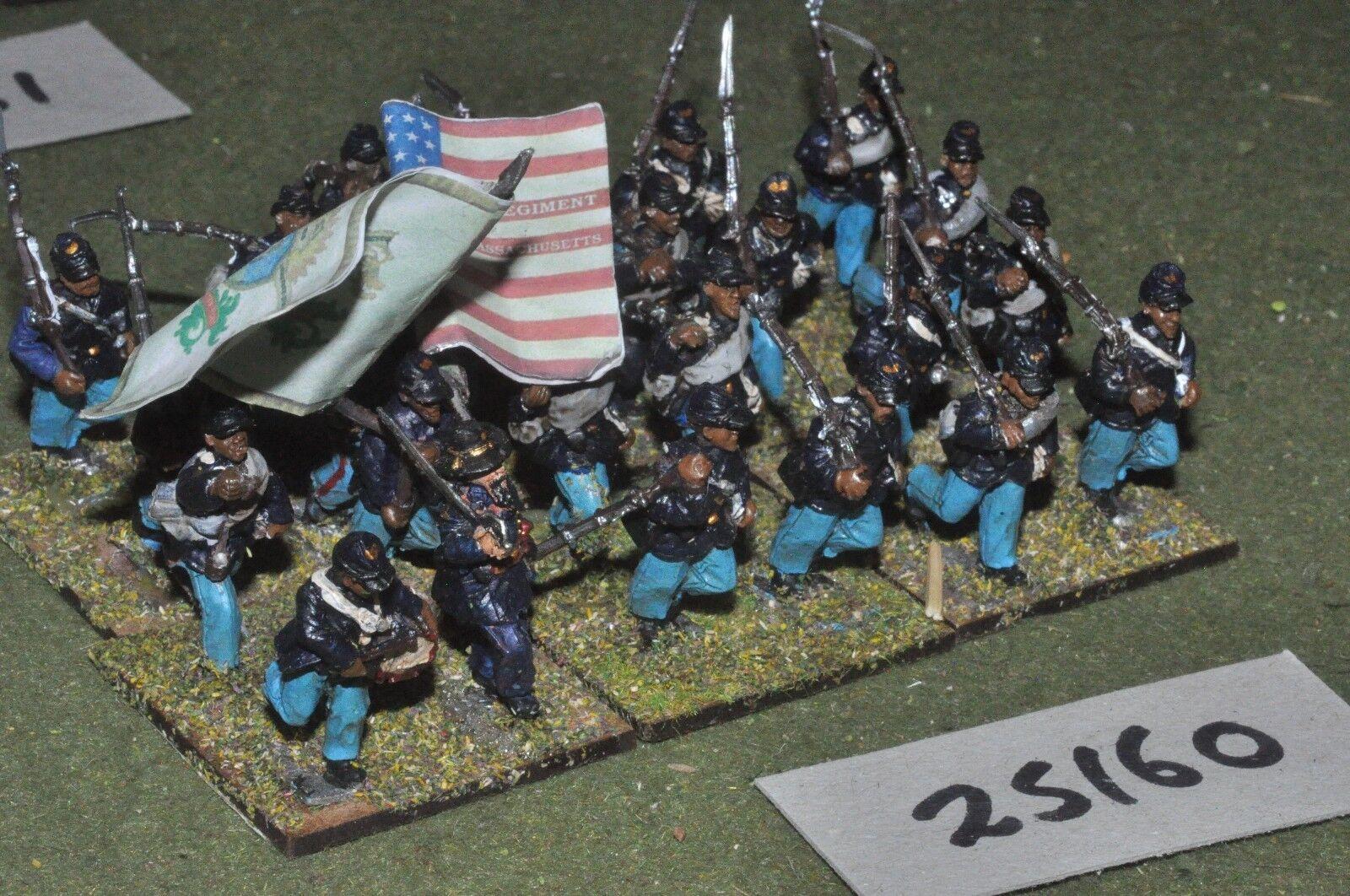 25mm ACW   union - battalion 24 figures - inf (25160)
