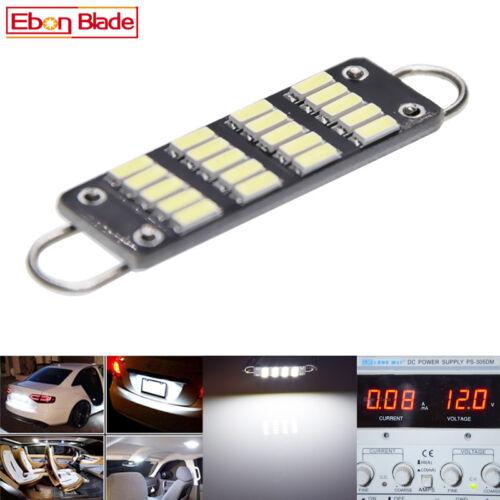 2x White 44mm 4014 20SMD Rigid Loop Festoon LED Light Bulb 561 562 567 564 212-2