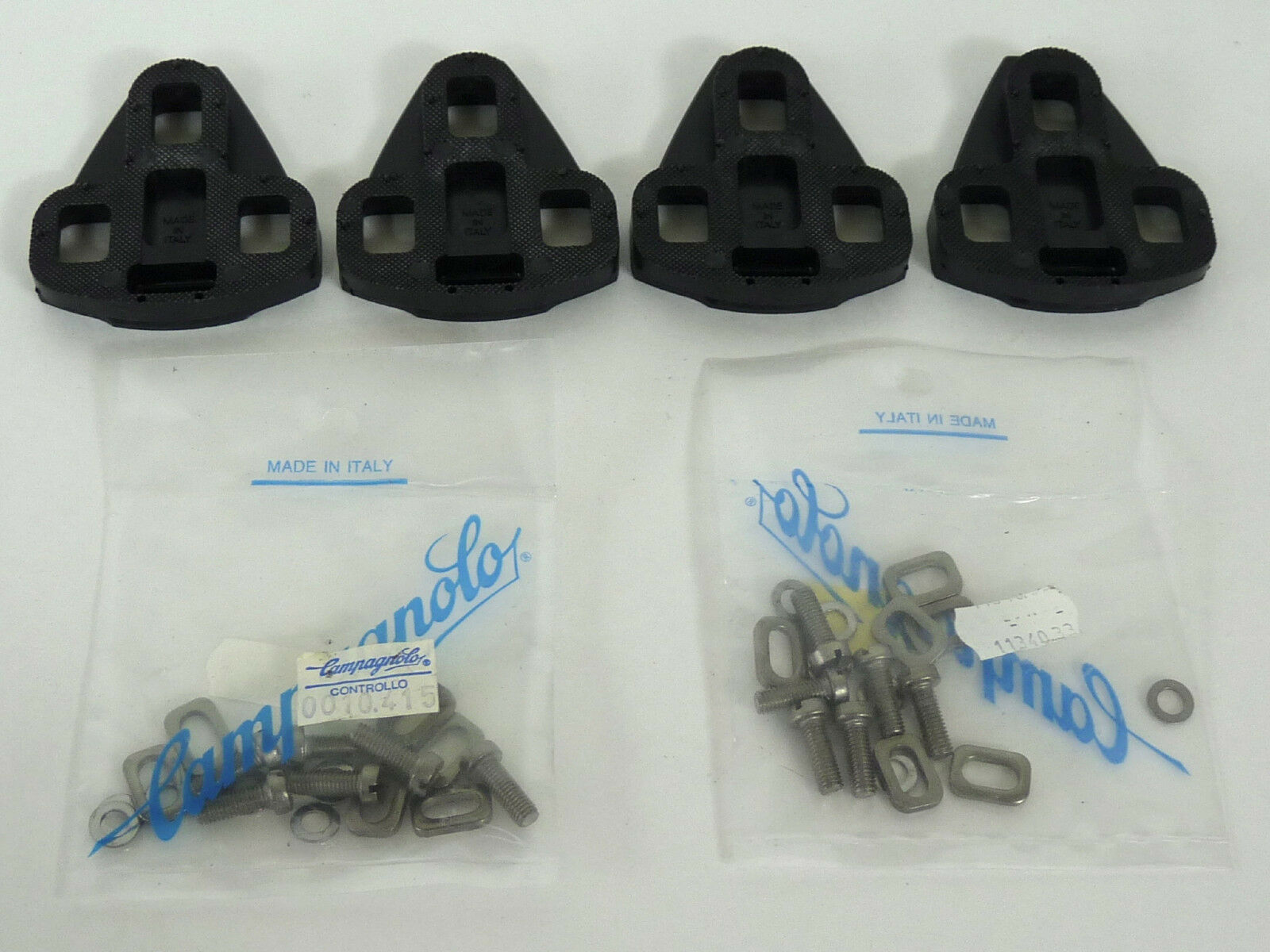 Campagnolo SGR Pedal tacos con nuevo hardware Pernos C Record Delta 2 establece nuevo viejo Stock