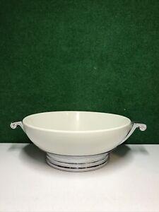 Vintage Manning & Bowman ART DECO Kitchenware Serving Bowl Chrome Base (sans couvercle)