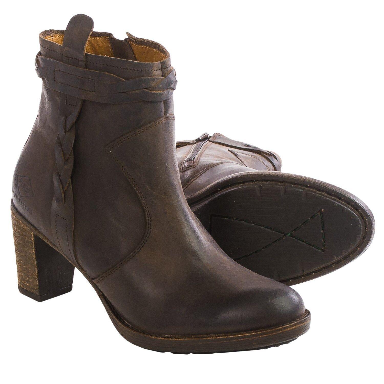 PLDM by Palladium Stony Brown Leather Ankle Zip Boots, EU 39 US 7.5, EU 42 US 10