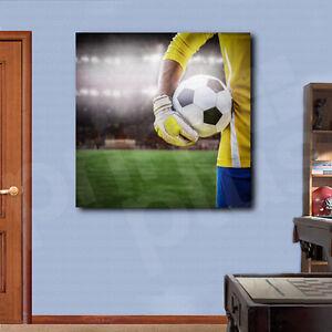 Football Goal Fire Ball Soccer 5 Panels canvas Wall Art Home Decor Print Poster