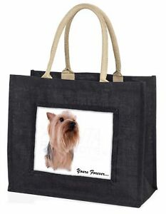 Yorkie 039Yours Forever039 Sentiment Large Black Shopping Bag Christmas P ADY2yBLB - Cwmbran, United Kingdom - Yorkie 039Yours Forever039 Sentiment Large Black Shopping Bag Christmas P ADY2yBLB - Cwmbran, United Kingdom