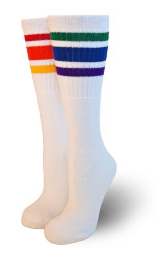 T3-22 Knee High Rainbow Striped Tube Socks HOT