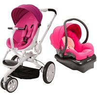 Quinny Moodd Travel System In Pink Passion Includes Stroller & Mico Car Seat
