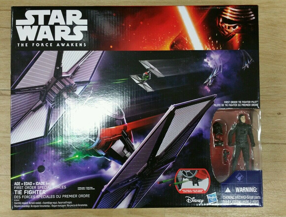 FIRST ORDER TIE FIGHTER with 3.75 Pilot Star Wars VII The Force Awakens Sold Out