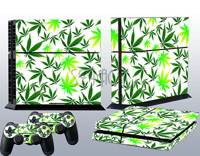 New Green Leaf Decal Sticker for Playstation 4 PS4 + Controller Skins Wrap