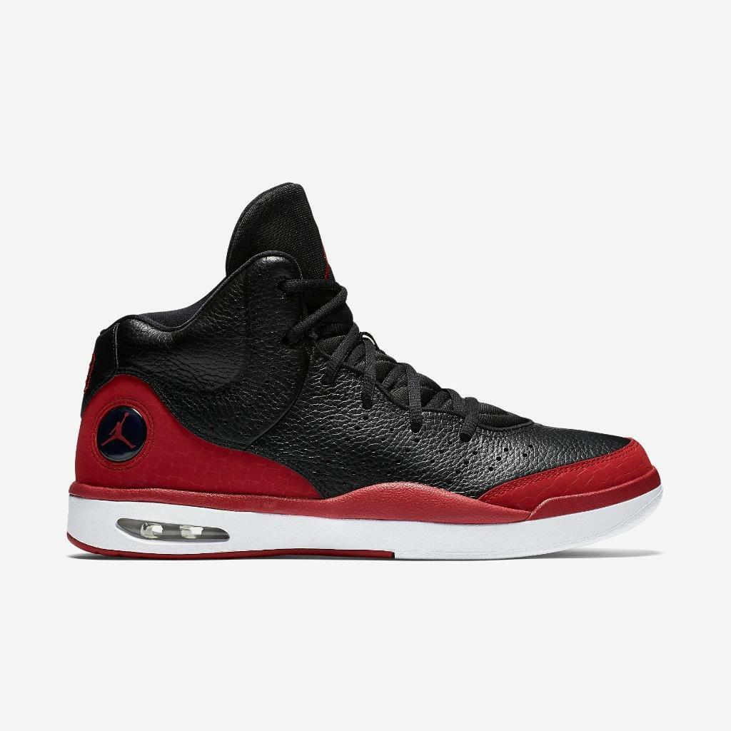 AIR JORDAN FLIGHT TRADITION 819472 001 BLACK/GYM RED-WHITE - CASUAL ATHLETIC