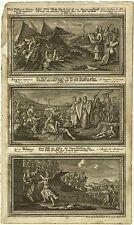 Kupferstich, Blatt einer Bilderbibel, Augsburg um 1750