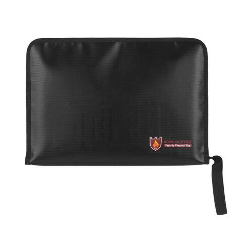 Fireproof Waterproof Safe Document Bags A4 Size Expandable File Folder U3G4