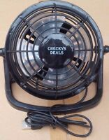 CHECKYS DEALS MINI USB POWERED DESK FAN PLASTIC 4 INCHES