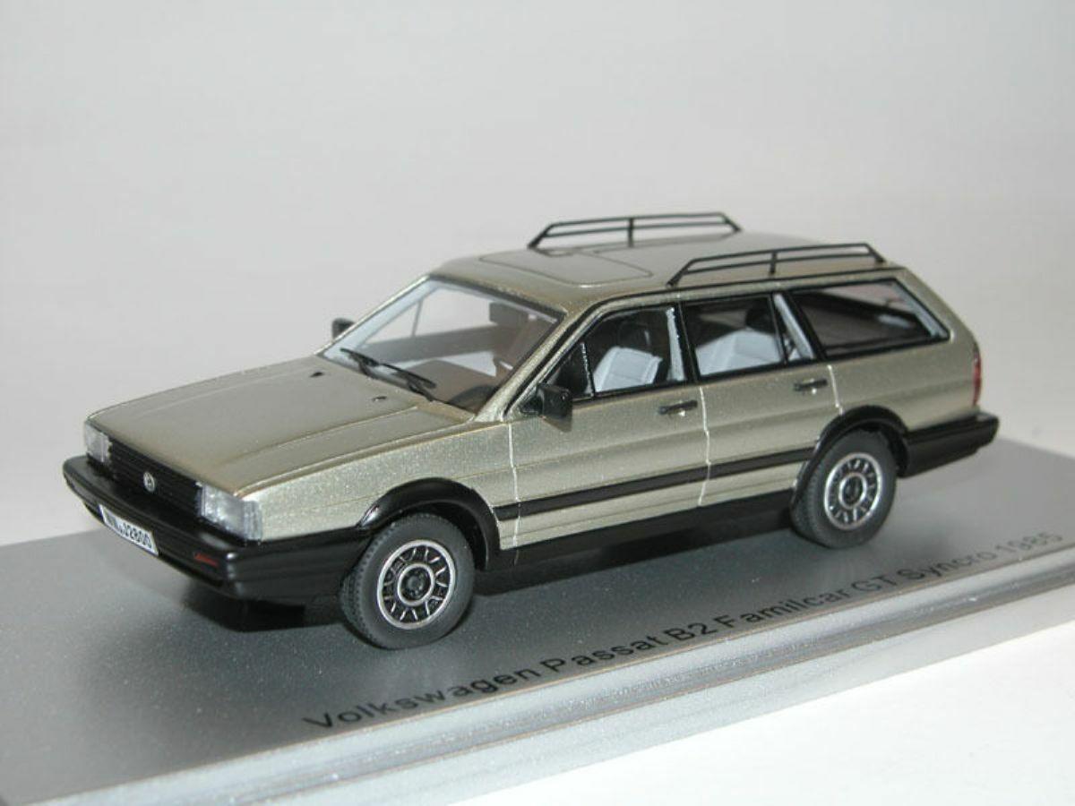 servicio considerado VW PASSAT B2 B2 B2 FAMILCoche GT SYNCRO 1985 plata FLASH METAL KESS KE43028000 1 43  te hará satisfecho