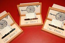 "Visconti ""Copernicus"" Complete Set Of Three Fountain Pens, New, Mint"