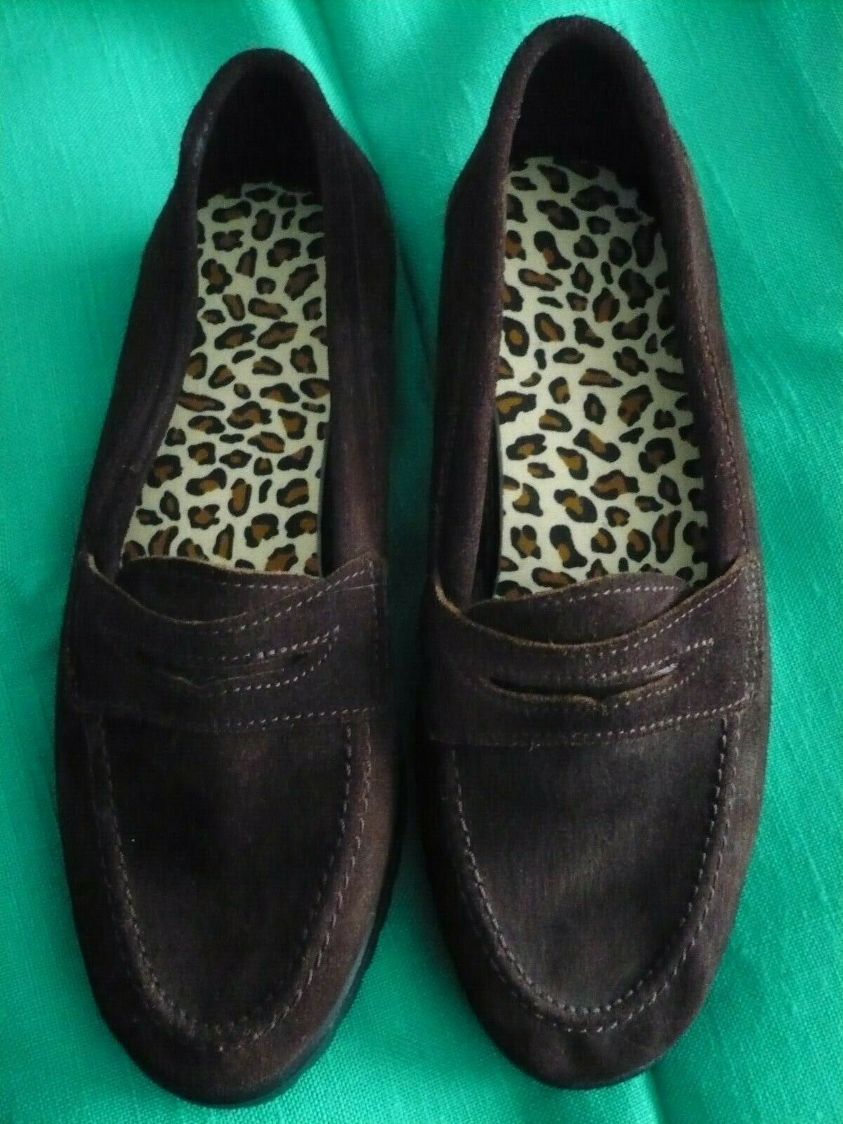 LYLA BROWN SUEDE LEATHER LOAFER SHOES size 6 BNEW