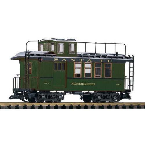 PIKO SF Wood Drovers Caboose 20871 w/ Lit Markers G Gauge 38623