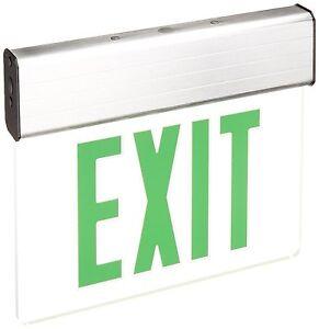 Green LED Edge Lit Double Face Exit Light 4//pk Mirror