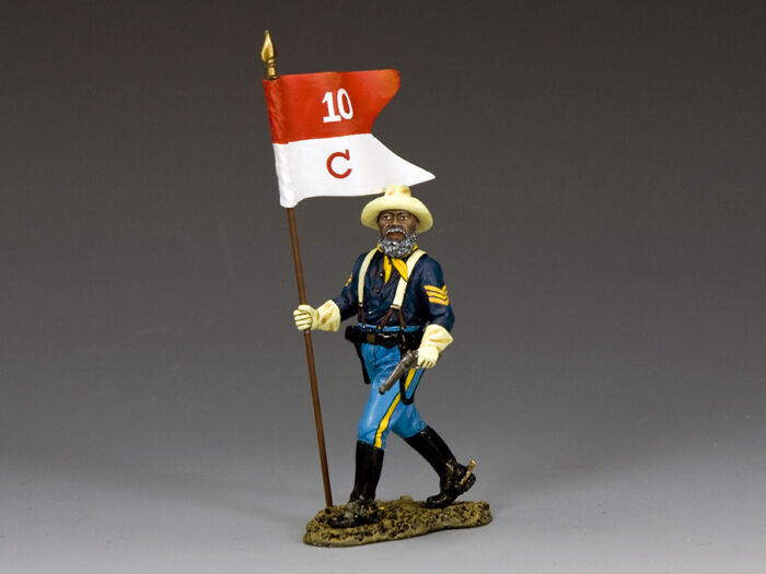 TRW116 Buffalo Soldiers Sergeant w Guidon by King and Country
