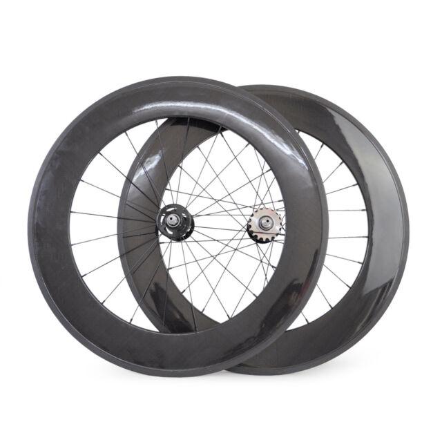 Track Bike 88mm Tubular Carbon Wheels Fixed Gear Bicycle Carbon Fiber Wheels