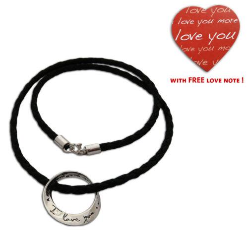 I love you more necklace 20 inch Men or Women Fair Trade