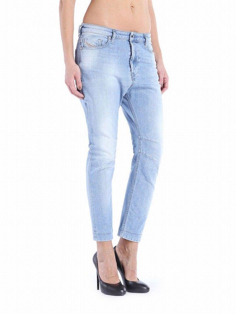 Diesel NEW bluee Women's Size 23X25 Eazee Boyfriend Stretch Trouser Jeans