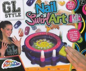 Image Is Loading S Nail Art Kit Swirl Machine Glitter Polish