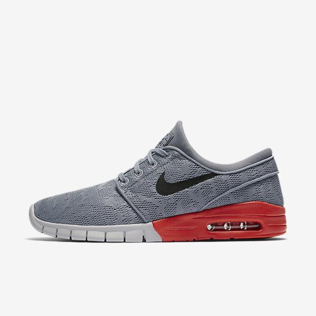 Nike sb stefan janoski max Uomo scarpe 8 stealth / nero max arancione 631303 017 stealth / nero max arancione