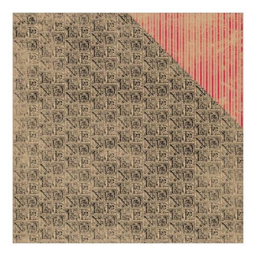 12x12 Tidings Christmas Scrapbook Paper Kraft Card Making Craft Holly Rustic 2Sd