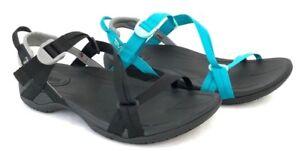 Teva-Sirra-Women-039-s-Hiking-Lightweight-Sport-Sandals-Black-amp-Tile-Blue-Size-5-11