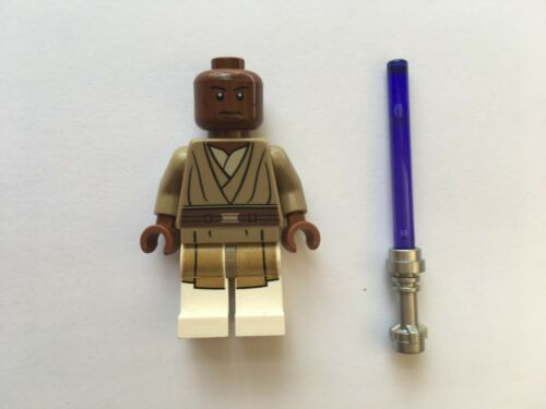 STAR WARS LEGO MINIFIGURE MACE WINDU+PURPLE LIGHTSABER 75019 SET AT-TE RARE@@@@@