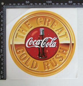 VINTAGE-COCA-COLA-GREAT-GOLD-RUSH-COKE-SHOP-POS-ADVERTISING-PROMO-STICKER