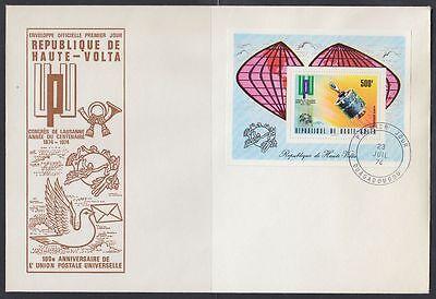 Afrika AnpassungsfäHig Obervolta Haute-volta 1974 Fdc Bl.26 A Weltraum Space Weltpostverein Upu