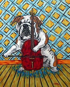 lhasa apso wine 8x10  art print animals impressionism gift new artist