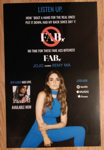 Music Poster Promo JoJo ~ Mad Love FAB Remy Ma