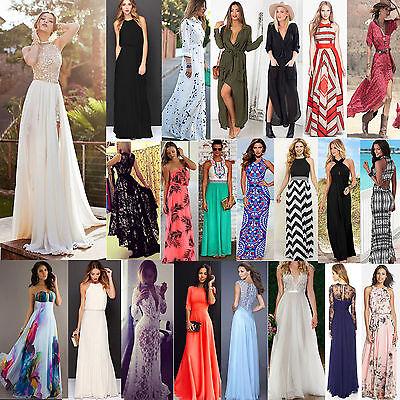 Womens Sexy Summer Dress Boho Maxi Long Evening Party Dress Beach Dress Sundress