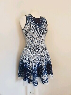 KAREN MILLEN Black /& Gold Embroidered Mesh Mini Dress UK 6 UK 8 UK 12 UK 10
