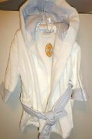 Baby Boy Plush Terry Wrap Robe With Hood By Stephan Baby. Fits Up To 12 Mo.,