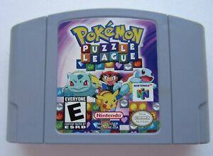 GOOD-Pokemon-Puzzle-League-Nintendo-64-N64-Tetris-Video-Game-Super-Fun-Retro